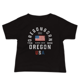 "Oregon USA - ""Old Glory"" - Baby Jersey Short Sleeve Tee - Oregon Born"