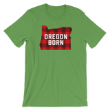 "Oregon Born ""Buffalo Plaid"" - Short-Sleeve Unisex T-Shirt - Oregon Born"
