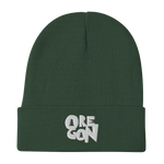 "Oregon ""Stylized"" - Embroidered Beanie - Oregon Born"