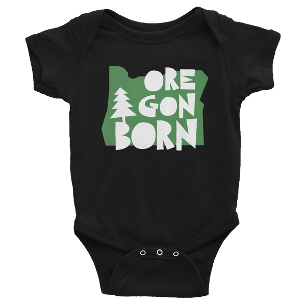 "Oregon Born ""Handcrafted"" in Green - Infant Bodysuit - Oregon Born"
