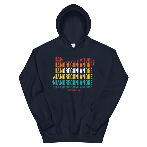 OREGONIAN (Vintage Sunset w/ State Outline) - Unisex Hoodie - Oregon Born