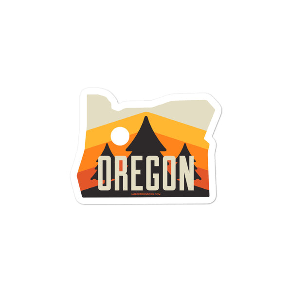 Oregon - Retro '70s - Bubble-Free Stickers - Oregon Born