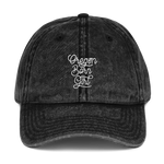 Oregon Born Girl (Script) - Vintage Cotton Twill Cap - Oregon Born