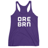 "Oregon Born - ""ORE BRN"" -  Women's Racerback Tank - Oregon Born"