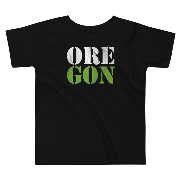 "Oregon Born - ""ORE-GON"" - Toddler Short Sleeve Tee - Oregon Born"