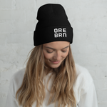"Oregon Born - ""ORE BRN"" - Cuffed Beanie - Oregon Born"