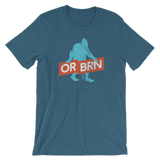 "Oregon Born ""Bigfoot with Banner"" - Short-Sleeve Unisex Tee - Oregon Born"