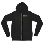 "Oregon Born ""ORBRN"" in Yellow - Lightweight Zip Hoodie - Unisex"