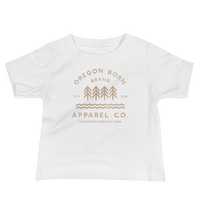 Oregon Born Brand Apparel Co. - Baby Jersey Short Sleeve Tee - Oregon Born