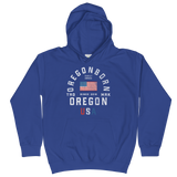 "Oregon USA - ""Old Glory"" - Kids Hoodie - Oregon Born"