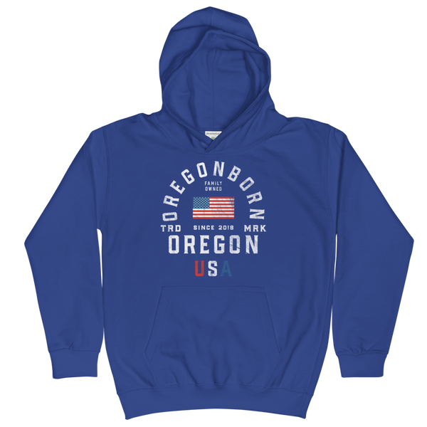 "Oregon USA - ""Old Glory"" - Kids Hoodie"
