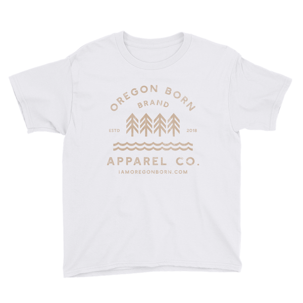 Oregon Born Brand Apparel Co. - Youth Short Sleeve T-Shirt - Oregon Born