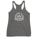 "Oregon Born ""Quality Apparel 2"" in White - Women's Racerback Tank - Oregon Born"