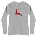 BUFFALO PLAID REINDEER - Unisex Long Sleeve Tee