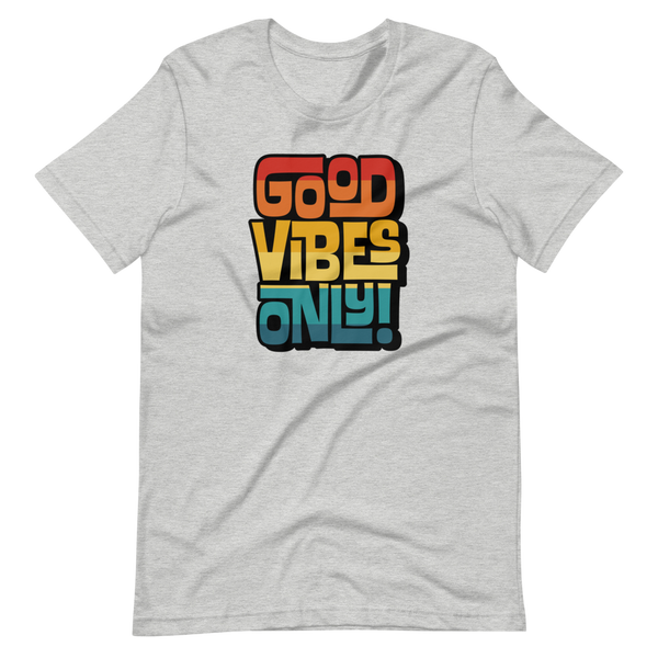 GOOD VIBES ONLY INTERLOCK (VINTAGE SUNSET) - Short-Sleeve Unisex T-Shirt