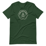 OREGON BORN (HEXAGON) - Short-Sleeve Unisex T-Shirt