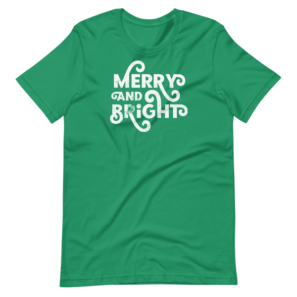 MERRY AND BRIGHT - Short-Sleeve Unisex T-Shirt