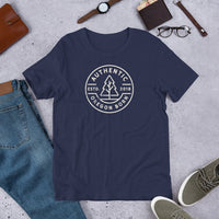 AUTHENTIC (ROUND) - Short-Sleeve Unisex T-Shirt