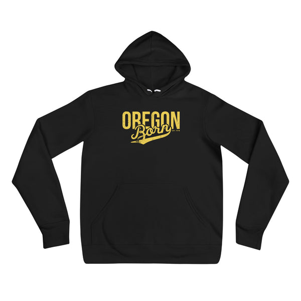 OREGON BORN - YELLOW - Unisex Hoodie