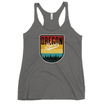 OREGON BORN SHIELD (VINTAGE SUNSET) - Women's Racerback Tank