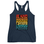 IT IS ALWAYS POSSIBLE INTERLOCK (VINTAGE SUNSET) - Women's Racerback Tank