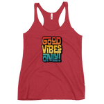 GOOD VIBES ONLY INTERLOCK (VINTAGE SUNSET) - Women's Racerback Tank