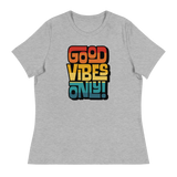 GOOD VIBES ONLY INTERLOCK (VINTAGE SUNSET) - Women's Relaxed T-Shirt