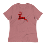 BUFFALO PLAID REINDEER - Women's Relaxed T-Shirt