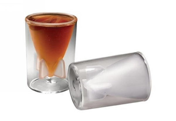 Missile Double Layer Glass Cup
