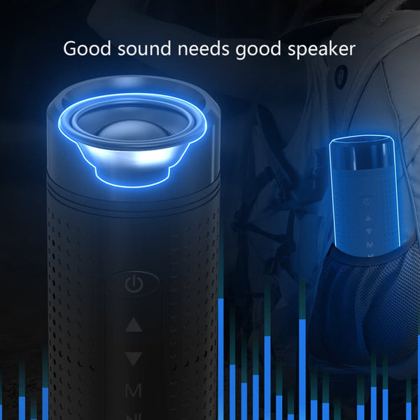 Multi-Function Sport Bluetooth Speaker with LED Flashlight