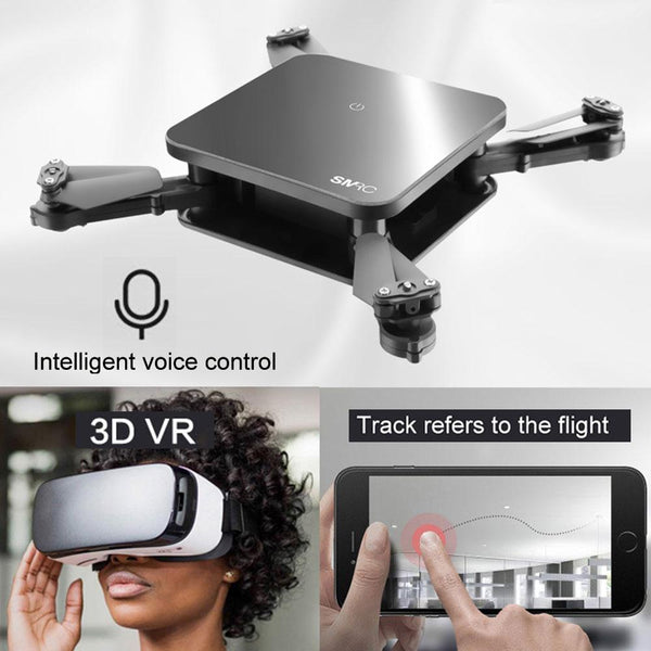 Mini Fold-able Selfie Drone With Camera 2MP / 0.3MP