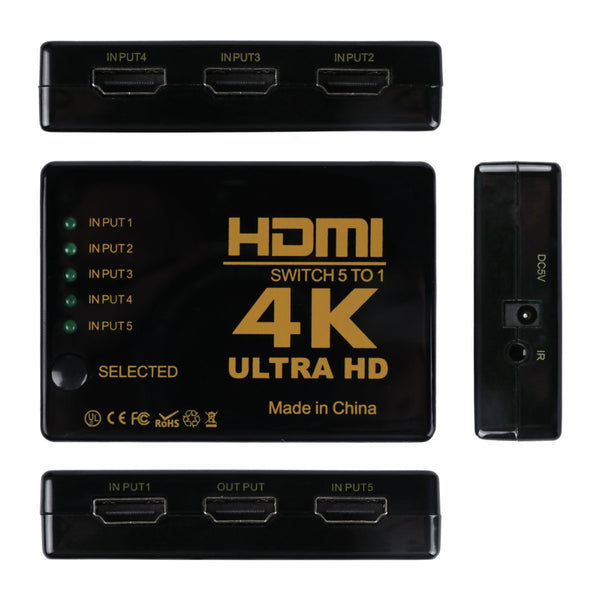 4K HDMI Switch + Remote For HDTV