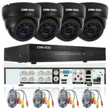 Dome CCTV HDMI Security Camera System 4PCS