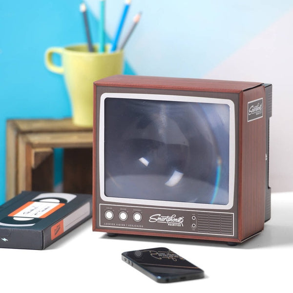 Retro TV Set Style 2X Smartphone Screen Magnifier
