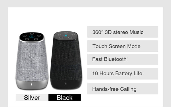 Touch Control Bluetooth Speaker with HD Sound and Enhanced Bass