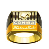Gold-Plated Cigar Ring
