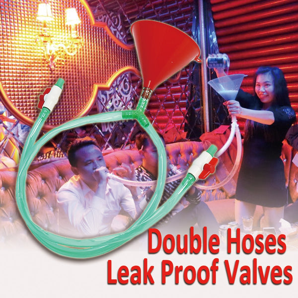 Double Hoses Drinking Funnel