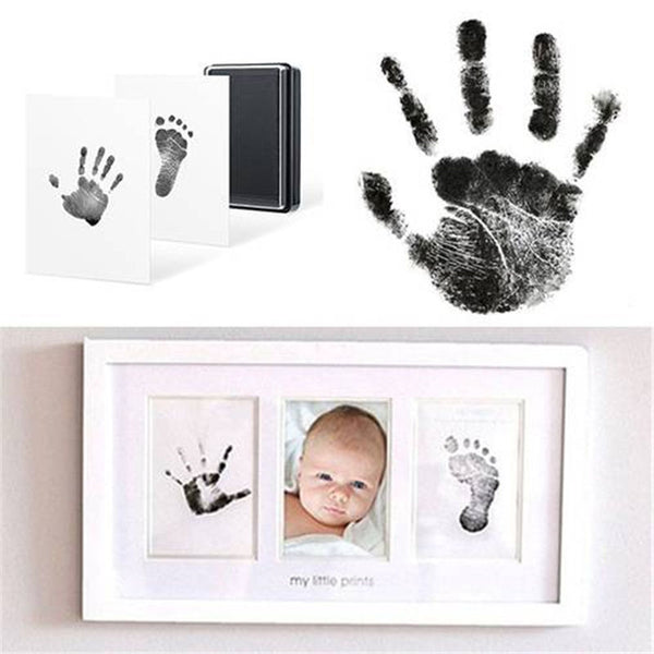 Baby Handprint/Footprint Photo Frame Kit with Clean Touch Ink Pad