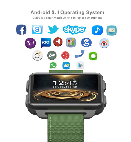 DM99 Smart watch with Bluetooth Headphones