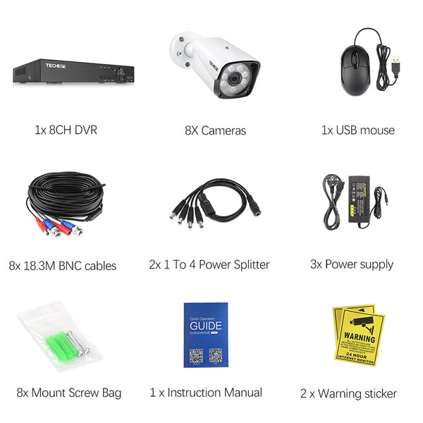 1080P HD  8CH HDMI Security Surveillance System