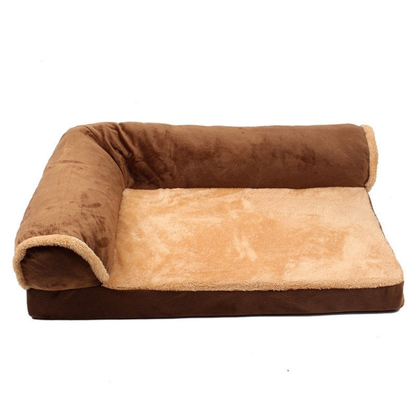 Warm Double-Cushion Dog Bed