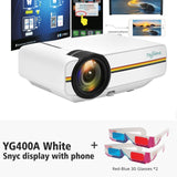 YG400A Mini Projector with Beamer