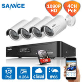 1080p HD Infrared Surveillance System Kits - 4CH