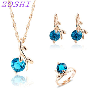 ZOSHI Fashion necklace earrings Ring wedding bridal jewelry