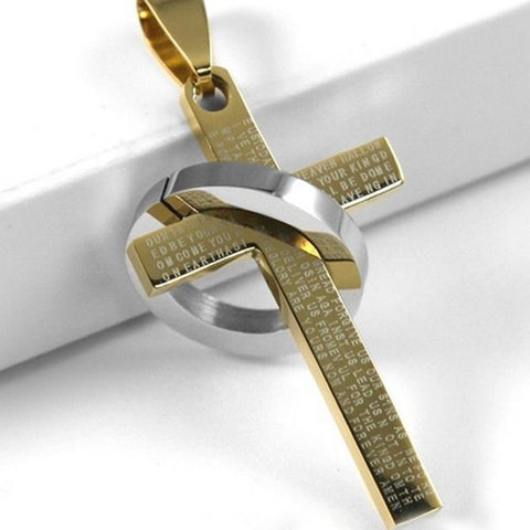 Hot 1Pc Fashion Stainless Steel Pendant Christian Bible