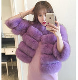 S-3XL Mink Coats Women 2018 Winter New Fashion Pink