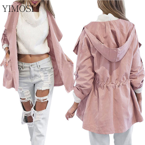 2k18 Women Jack Coat Autumn Long Sleeve Hooded