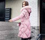 Big fur winter coat thickened parka women
