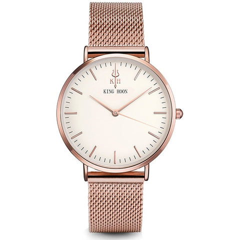 KING HOON Luxury Steel Mesh Women Watch Ultra
