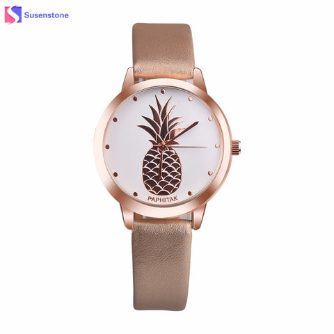 Brand New Womens Pineapple Leather Band 2018